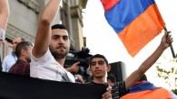 Акция протеста в центре Еревана